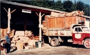 Cardboard Truck at Cottonwood Depot - Historic RMRS photo
